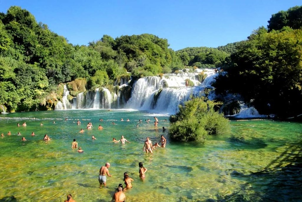 Krka river swimming